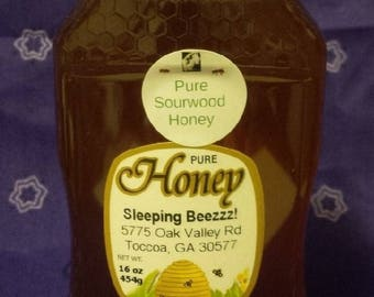 All Natural Sourwood Honey  Limited Supply  16 oz
