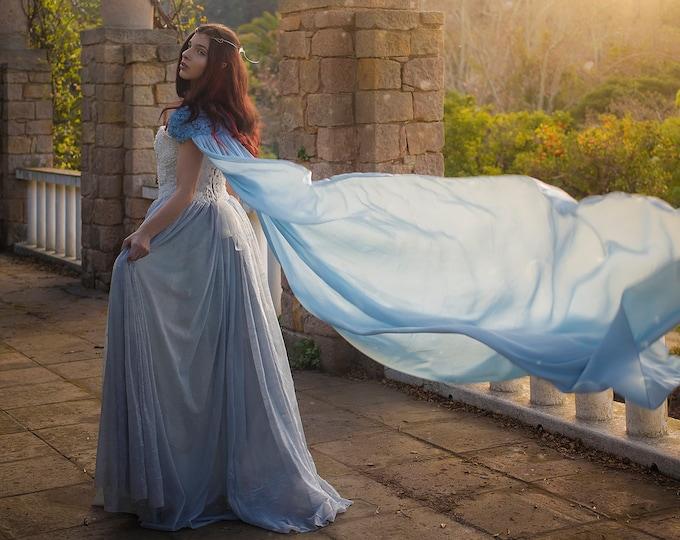 Fantasy Wedding Dress, Wedding Corset Dress, Elven Wedding, Fairy Tale Dress, Fairy Princess Dress, Women Ball Gown, Celtic Bridal Gown,Prom