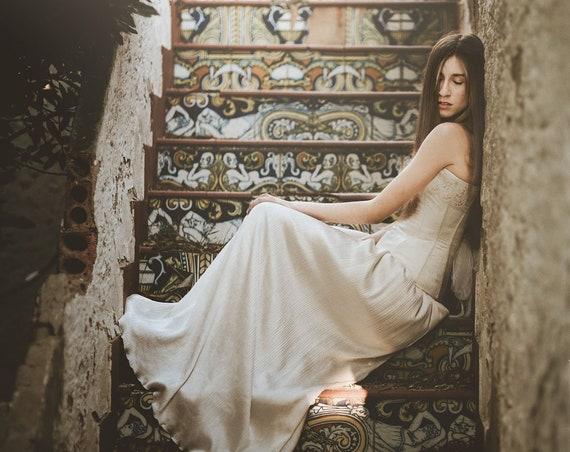 Boho Wedding Skirt, Ivory Silk Satin Skirt, Women Maxi Skirt, Floor Length Skirt, Fairy Skirt,Boho Chic Wedding,Rustic Wedding,Vintage Style