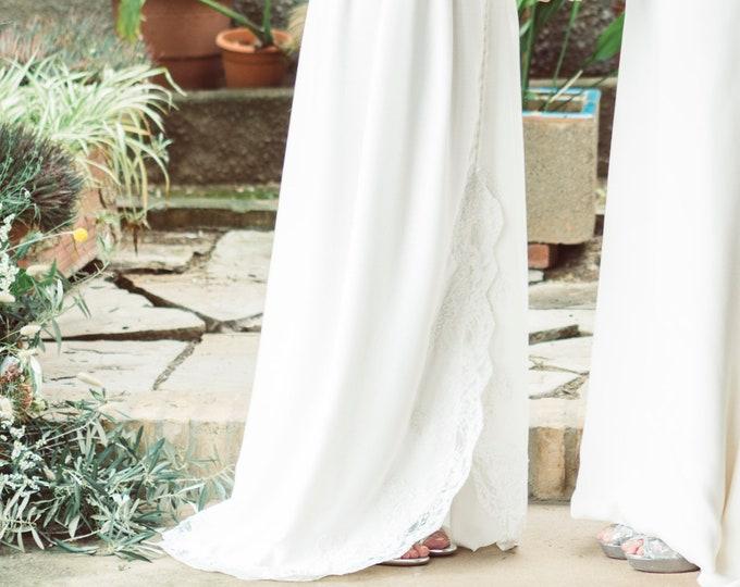 Boho Wedding Skirt, Celtic Wedding Dress Bridal Separates, Asymmetrical Bohemian Skirt, Viking Bridal Skirt, Rustic Woodland Hand Fasting