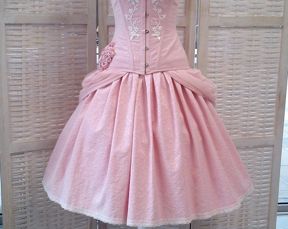 Sweet Lolita Skirt, Pink Fantasy Dress, Fantasy Wedding Skirt, Short Wedding Dress, Kawaii Ball Skirt, Princess Bridal Skirt, Ballet Costume