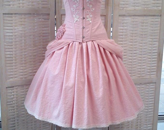 Sweet Lolita Skirt, Pink Fantasy Dress, Fantasy Wedding Skirt, Short Wedding Dress, Kawaii Ball Skirt, Princess Bridal Skirt, Ballet Costume