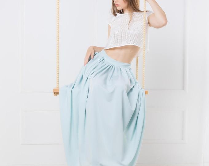 Light blue bridal skirt perfect for fairy fantasy wedding or romantic bride dress