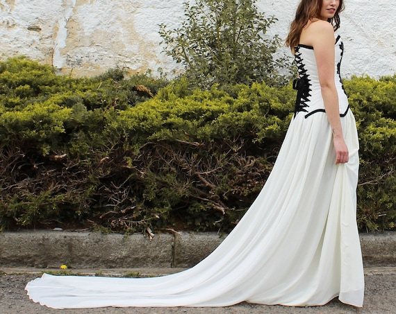Ivory wedding skirt, Wedding full length skirt, Chiffon bridal skirt, Deep skirt bridal separates, Alternative wedding, Wedding maxi skirt