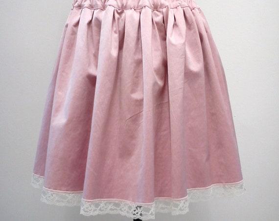 Pastel goth skirt, Kawaii skirt, Lolita pink satin skirt, Boho chic summer skirt, Preppy skirt, Sweet lolita, Harajuku, Present for her