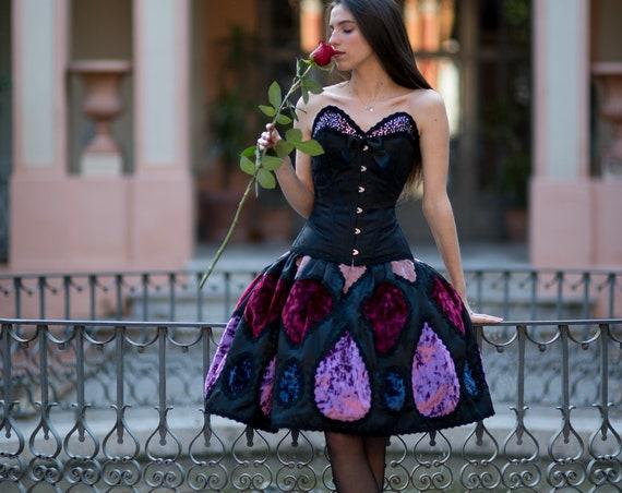 Haute Couture Dress, Purple Wedding Dress, Gothic Fantasy Dress, Fairy Princess Dress, Fairytale Dress, Designer Dress, New Year Prom Dress