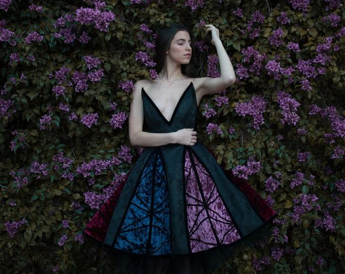 Fantasy Dress, Wedding Guest Dress, Elven Dress, Velvet Gothic Dress, Haute Couture Props Dress, Lolita dress, Fairy Dress, Corset Dress