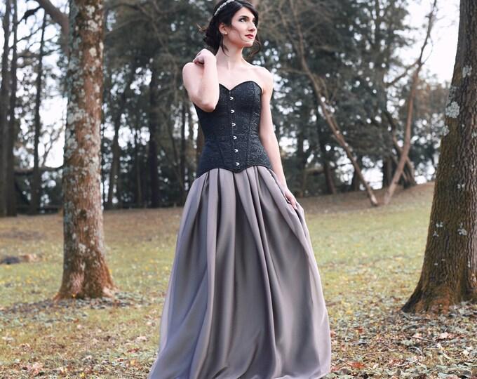 Black Wedding Dress, Gothic Wedding, Corset Wedding Dress, Fall Wedding Gown, Goth Bridal Separates, Dark Boho Bride, Alternative Wedding