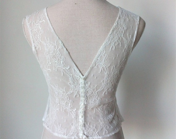 Lace Wedding Top, Bridal Separates Top, Lace Bridal Top Separate, Ivory Lace Crop Top, Boho Wedding Dress, Bridal Lace Top, Wedding Top Boho