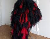 Black and red wedding skirt, Gothic wedding skirt, Steampunk wedding dress, Tulle wedding, Black wedding dress, Black and red wedding dress