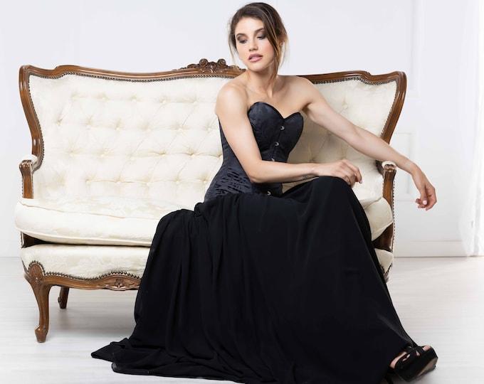 Black Wedding Dress, Wedding Guest Dress, High Fashion Dress, Gothic Bridal Gown, Cocktail Dress, Halloween Wedding