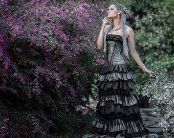 Steampunk Corset Wedding Dress