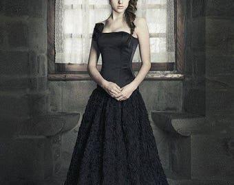 Black wedding dress | Etsy