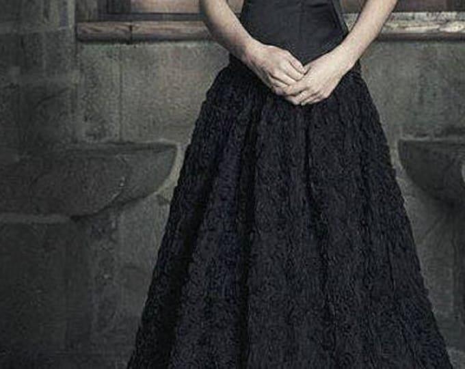 Black Wedding Dress, Gothic Wedding Dress, Black Tulle Fantasy Dress, Goth Black Ball Gown, Steampunk Corset Wedding Dress, Dark Queen Dress