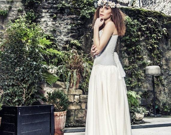 Bridal Separates, Wedding Corset, Corset Wedding Dress, Wedding Skirt, Overbust Corset, Elven Wedding, Pagan Wedding Dress, Fantasy Wedding