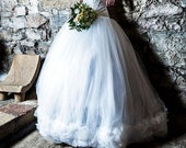 Steampunk wedding skirt - IvoryTulle Long Skirt - Fantasy wedding - Fairy wedding - Princess wedding - Gothic wedding - Alternative wedding