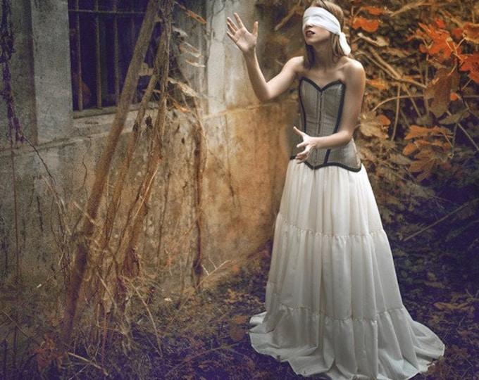 Viking Wedding Skirt, Bridal Tiered Skirt, Rustic Bridal Skirt, Country Wedding Separates, Norse Wedding Dress, Viking Bridal Dress, Pagan