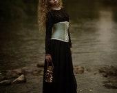 Gothic wedding skirt - Bohemian romantic dark princess black chiffon long skirt - Medieval skirt - Gothic wedding dress - Boho dark