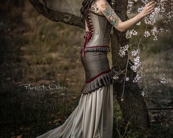 Steampunk Wedding Dress, Steampunk Corset Dress, Vintage Wedding, Victorian Dress, Pirate Wedding Dress, Historical Clothing, Prom Dress