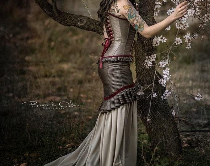 Steampunk Wedding Dress, Steampunk Corset Dress, Vintage Wedding, Victorian Dress, Pirate Wedding Dress, Historical Clothing, Props Dress
