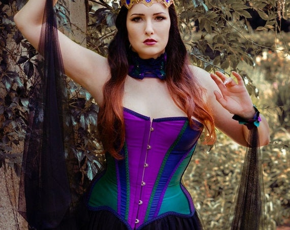 Fantasy Overbust Corset, Fairy Costume Corset, Vampire Costume Corset, Medieval Clothing, Burlesque Corset, Wedding Guest, Goddess Corset