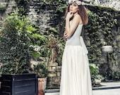 SAMPLE SALE - Bohemian wedding silk chiffon skirt - Beach wedding ivory silk long skirt - Fantasy wedding - Boho wedding - Romantic wedding