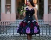 Haute couture, Gothic fantasy dress, Fairy princess wedding dress, Fairytale, Gothic wedding dress, Short wedding dress, Alternative wedding