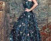Steampunk wedding dress, Gothic wedding dress, Black and gold wedding dress, Black wedding dress, Gothic ball gown, Wedding corset dress