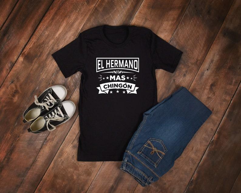 32732d973c El Hermano Mas Chingon Funny Spanish Brother Short-Sleeve | Etsy