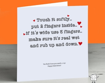 Image of: Thought Catalog Rude Joke Valentines Day Card Cheeky Crude Naughty Teasing Dirty Funny Tease Sexual Mind Childish Husband Wife Girlfriend Boyfriend Poverty News Dirty Joke Etsy
