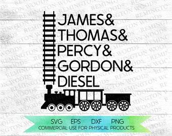 thomas the train SVG - thomas - gordon - percy - james - SVG - thomas train digital download - train tracks - steam train