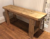 Rustic Handmade Wooden Bench- Many Colours and Sizes