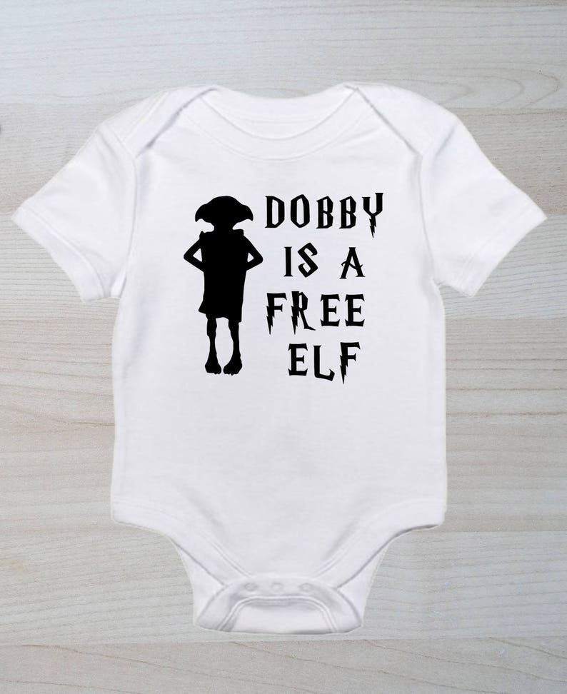 f164f587df Dobby Is A Free Elf Cute Baby Clothes Nerd Baby shower | Etsy