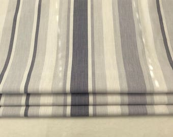 Made to Measure Roman Blind - New Season Laura Ashley Spring/Summer 2018 Awning Stripe Pale Iris CHD02ASPI