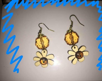 Stylish handcrafted earrings.  Made in USA with love.