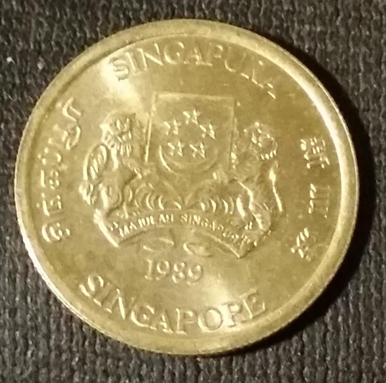 Coin 5 Cents 1989 Singapore