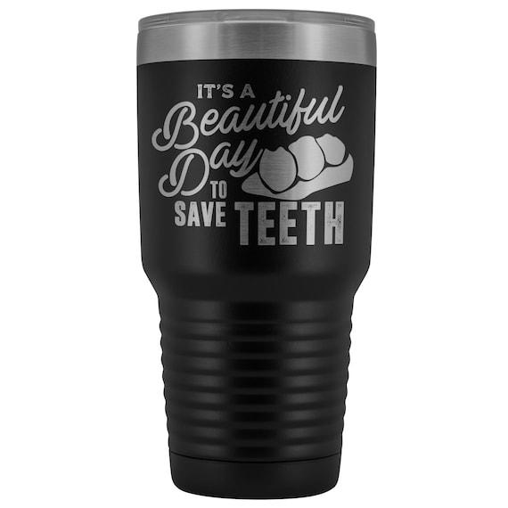 Personalized Tumblers Dental Hygienist Tumbler Dental Gifts Sunflower Tumbler Dental Assistant Tumbler