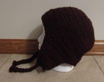 Crochet Acrylic Ear Flap Hat