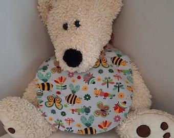 BV-21-11 Bib - Baby bib - Butterfly Bees