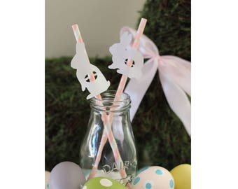 Bunny Straws, Rabbit Straws || 12 Straws