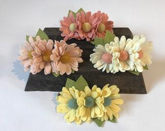 Felt flower headband - Daisy Crown