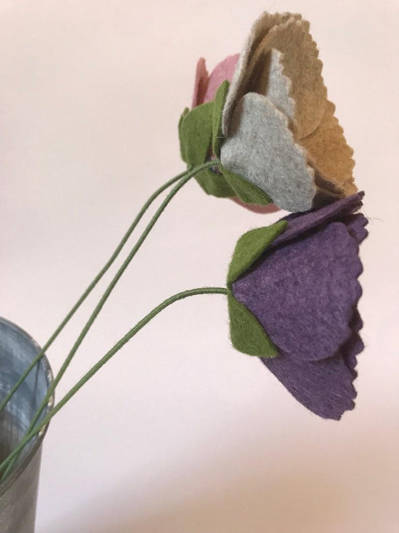 Felt Flower on a stem