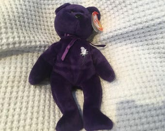 Rare Vintage ty Original Princess Diana Beanie Baby from 1997 - Princess of Wales  Memorial Fund - PE Pellets 9c7fbf855253