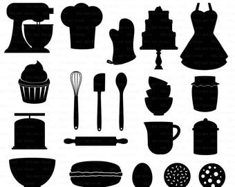 Baking SVG Bakery svg cutting files Cricut and Silhouette SVG dxf png jpg included. Cooking svg cutting files, Vintage Bakery cut files