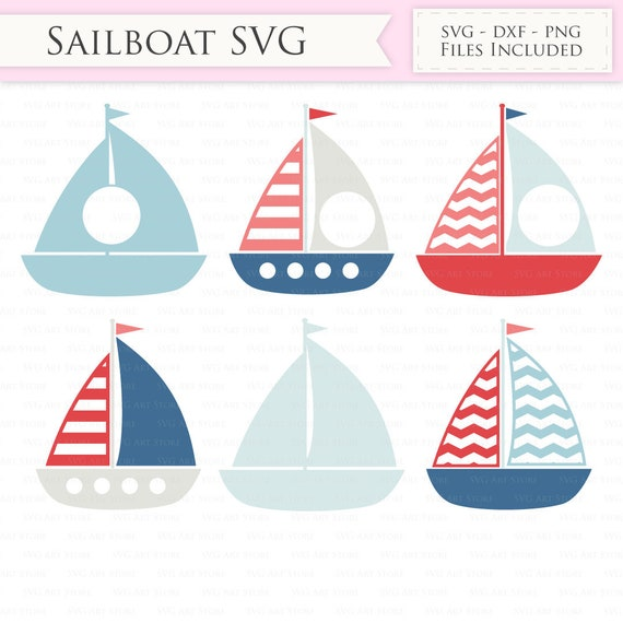 Nautical Svg Files Sailing Boat Svg Cut Files For Cricut And Etsy