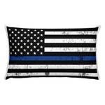 Thin Blue Line Flag Rectangular Pillow