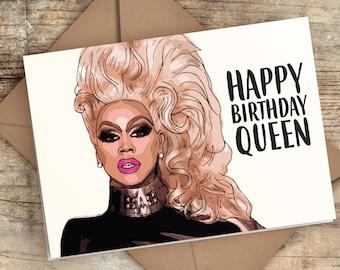 Ru Paul Birthday Card | RuPaul Card | Happy Birthday Queen