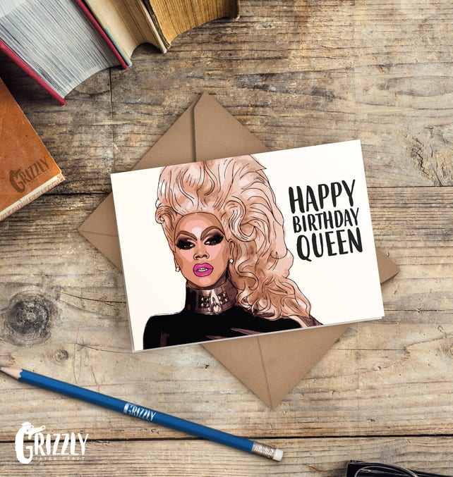 Drag Race Birthday Card