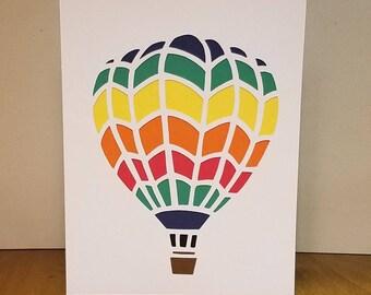 Handmade hot air balloon card