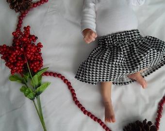 Houndstooth Baby/Toddler Skirt